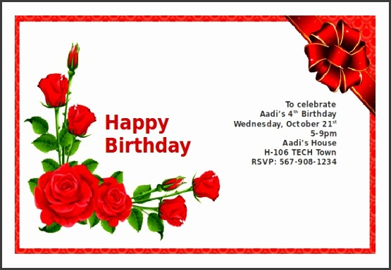 Ms Word Birthday Card Template Inspirational 5 Ms Word Greeting Card Template Sampletemplatess