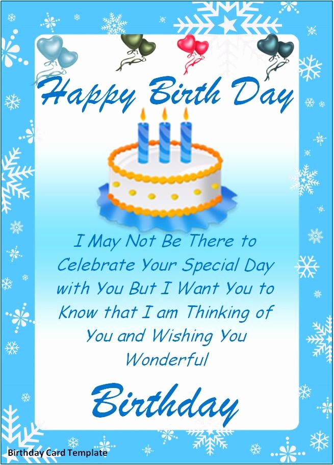 Ms Word Birthday Card Template Inspirational Birthday Card Templates Best Word Templates
