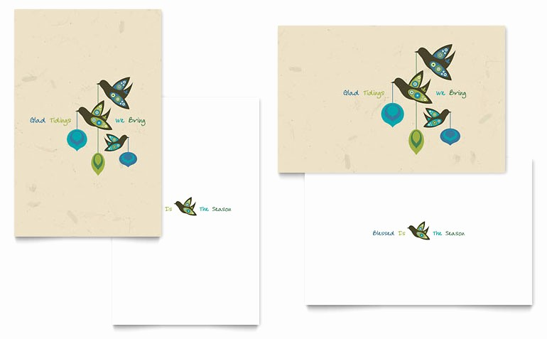 Ms Word Birthday Card Template Inspirational Glad Tidings Greeting Card Template Word & Publisher