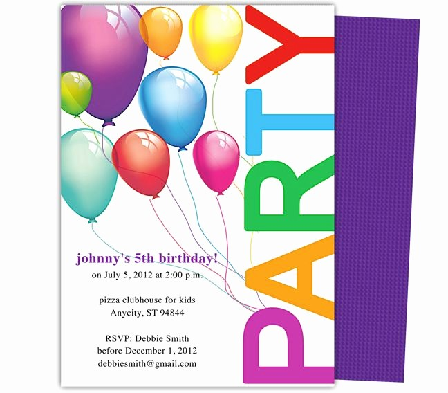 Ms Word Birthday Card Template Lovely Happy Birthday Invitation Templates