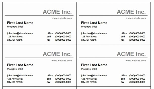 Ms Word Business Card Templates Beautiful Business Card Template for Microsoft Word