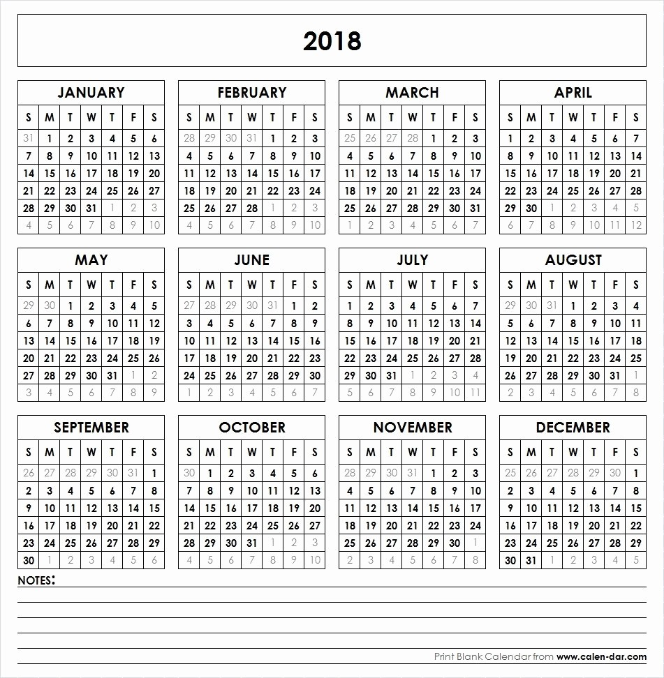 Ms Word Calendar Template 2018 Beautiful Get Free Blank Template Of Year 2018 Printable Calendar