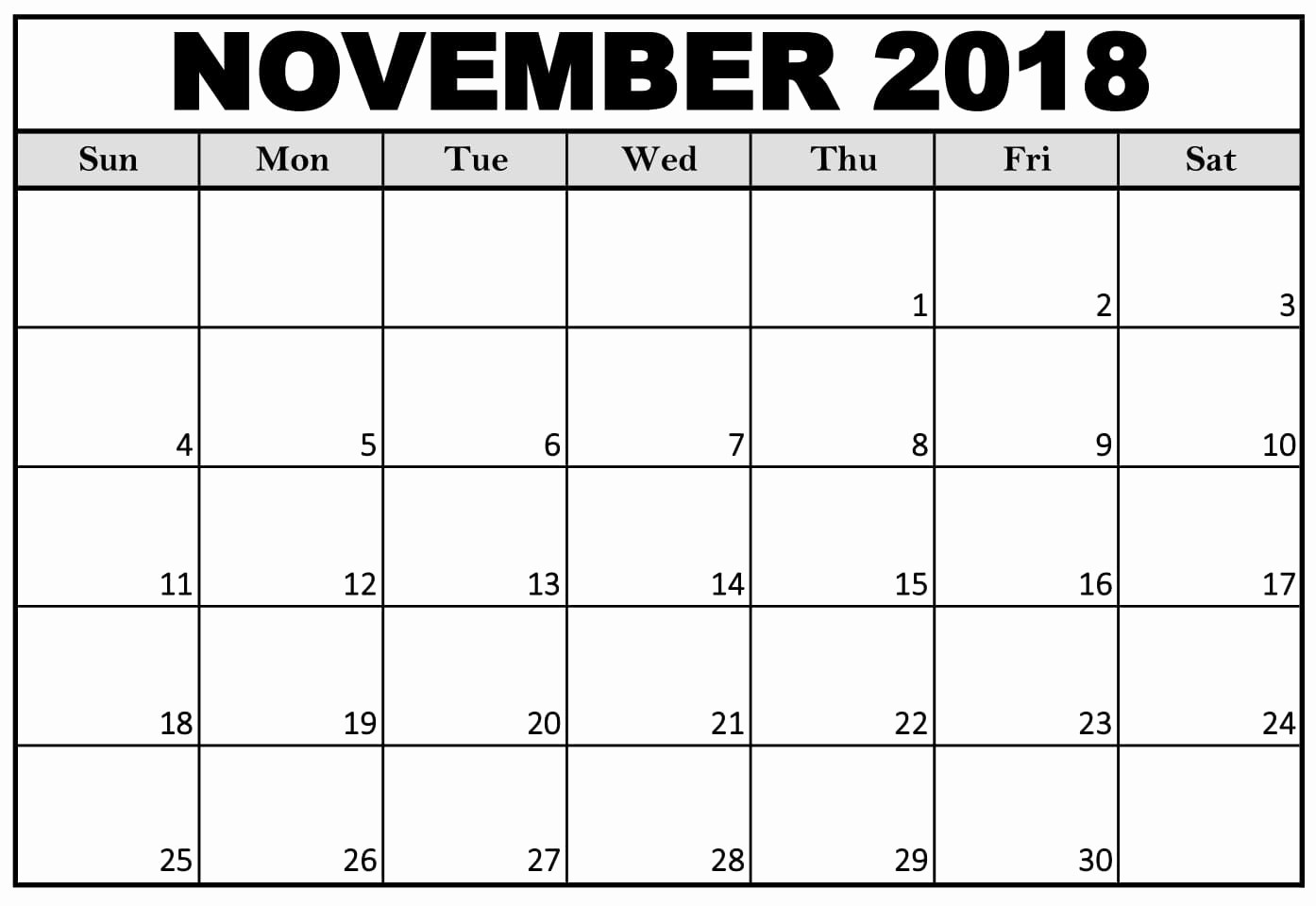 Ms Word Calendar Template 2018 Best Of Monthly November 2018 Calendar Template In Microsoft Word