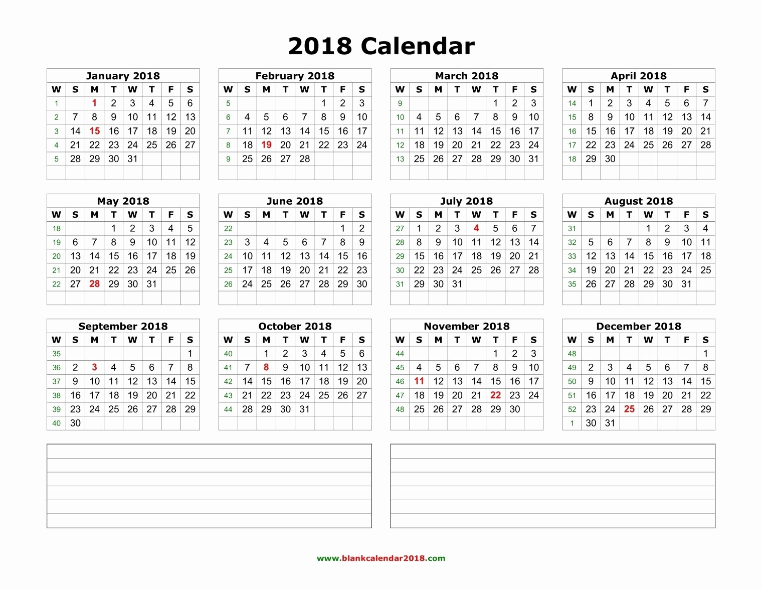 Ms Word Calendar Template 2018 Elegant Portrait