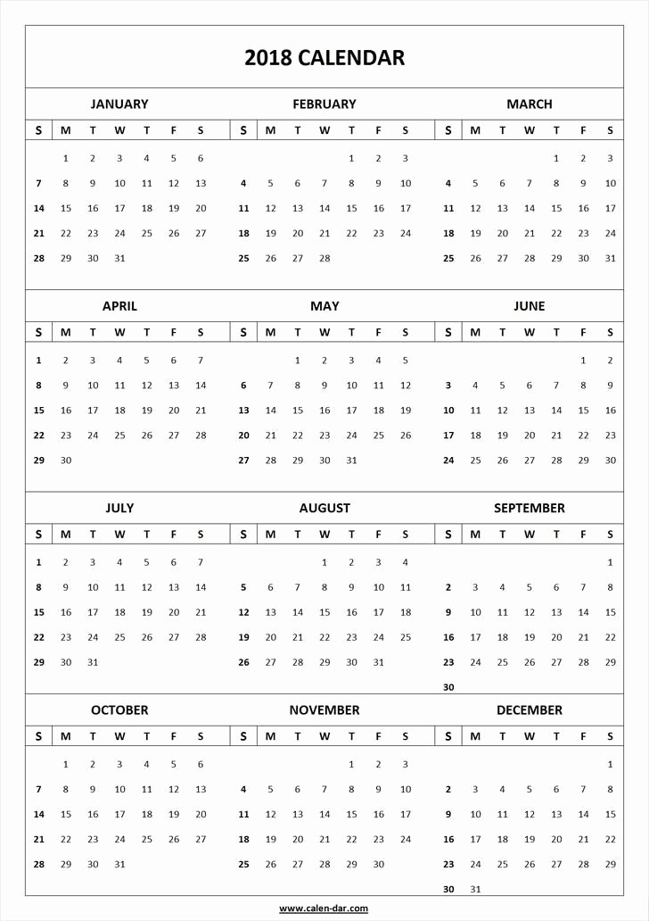 Ms Word Calendar Template 2018 Lovely 2018 Calendar Template