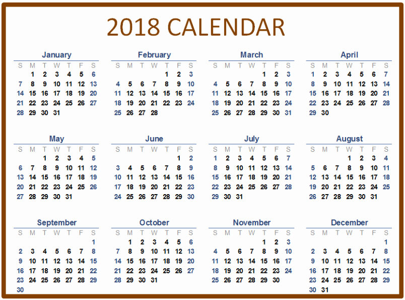 Ms Word Calendar Template 2018 New Microsoft Word Calendar Template 2018 Templates Data