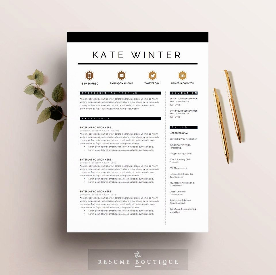 Ms Word Cover Letter Template Best Of Resume Template 4 Pages