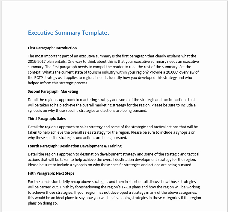 Ms Word Executive Summary Template Awesome 29 Free Executive Summary Templates Word Templates