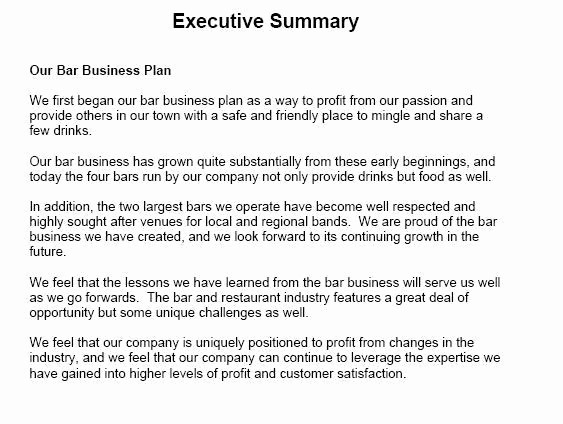 Ms Word Executive Summary Template Awesome 5 Executive Summary Templates Excel Pdf formats