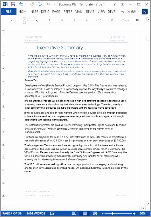 Ms Word Executive Summary Template Awesome 6 Executive Summary Template Microsoft Word Eaoit