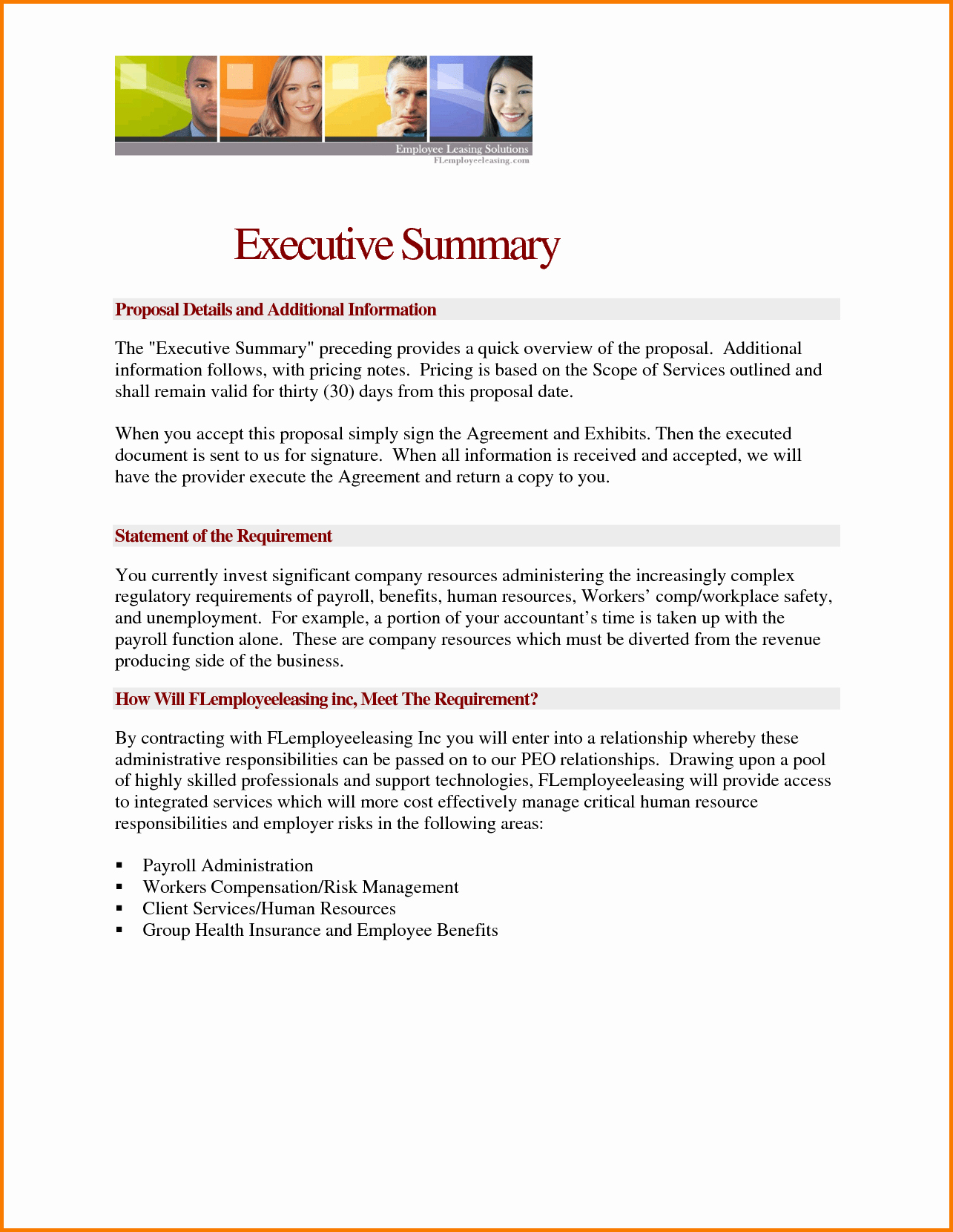 Ms Word Executive Summary Template Beautiful Brilliant Ideas 28 Proposal Executive Summary Template