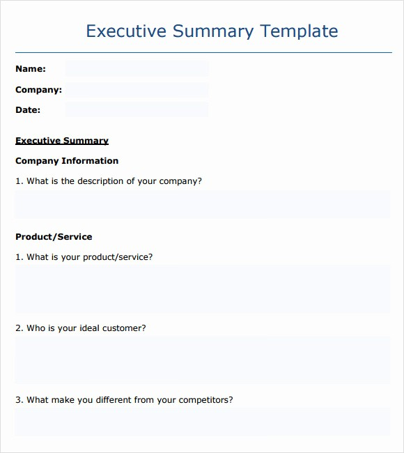 Ms Word Executive Summary Template Best Of 9 Executive Summary Templates for Free Download