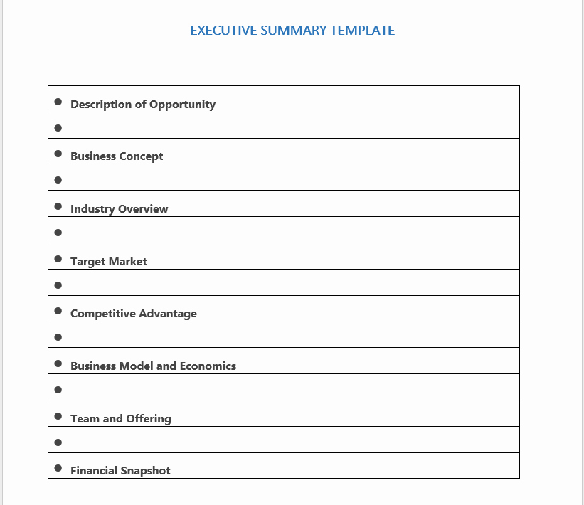 Ms Word Executive Summary Template New 29 Free Executive Summary Templates Word Templates