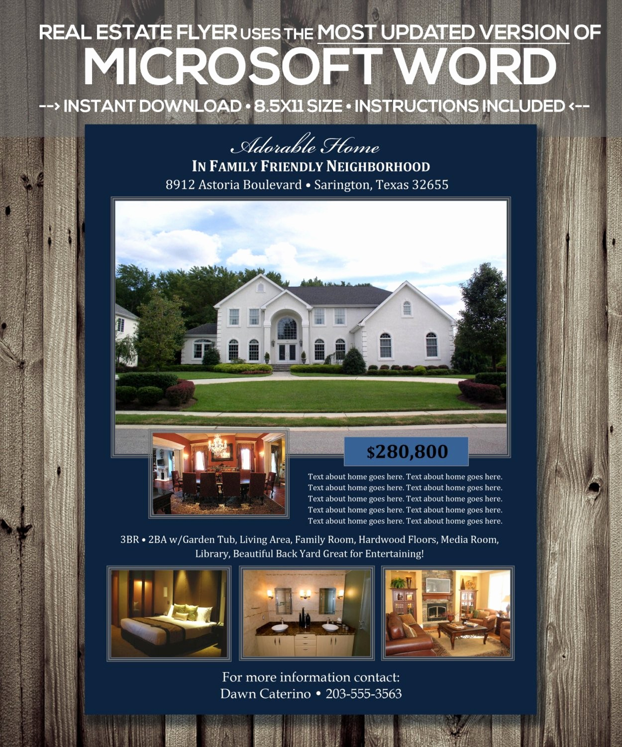 Ms Word Flyer Template Free Beautiful Real Estate Flyer Template Microsoft Word Cx Version