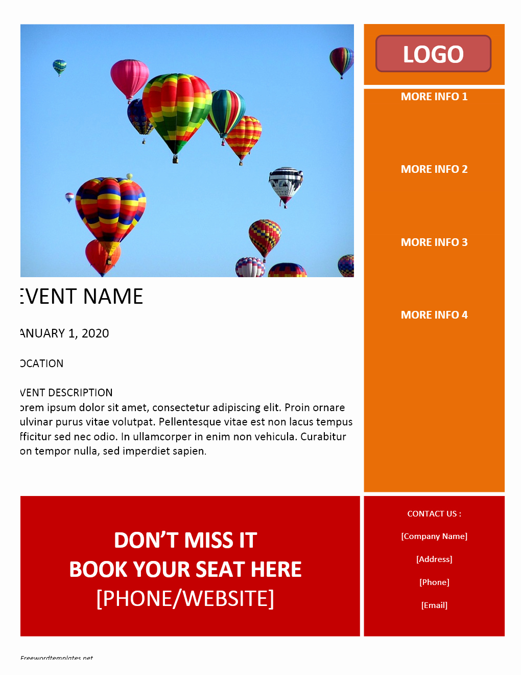 Ms Word Flyer Template Free Lovely event Flyer Template