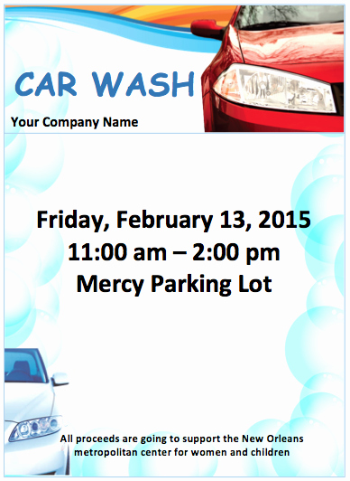 Ms Word Flyer Template Free New Car Wash Flyer Template Free Flyer Templates