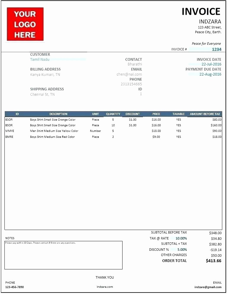 Ms Word Invoice Template Download Awesome Word Invoice Template 2010 Ms Word Invoice Template