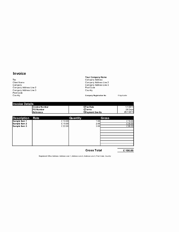 Ms Word Invoice Template Download Fresh Free Invoice Templates for Word Excel Open Fice