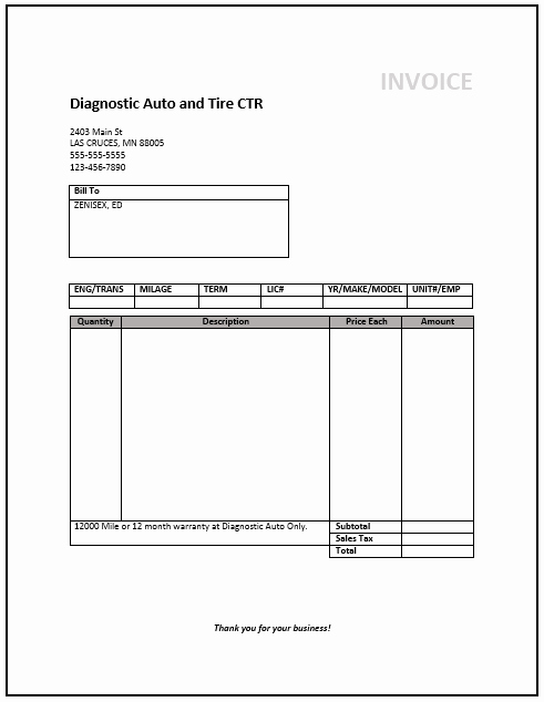 Ms Word Invoice Template Download Lovely Service Invoice Template Word Download Free