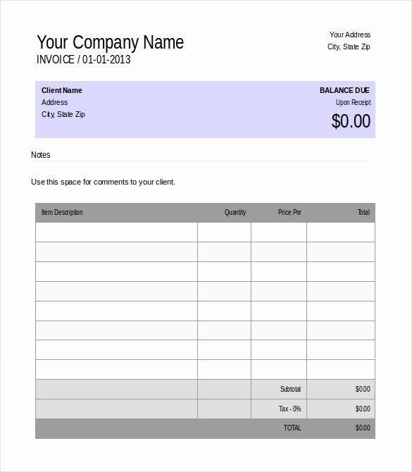 Ms Word Invoice Template Download Luxury 31 Blank Invoice Templates Ai Psd Google Docs Apple