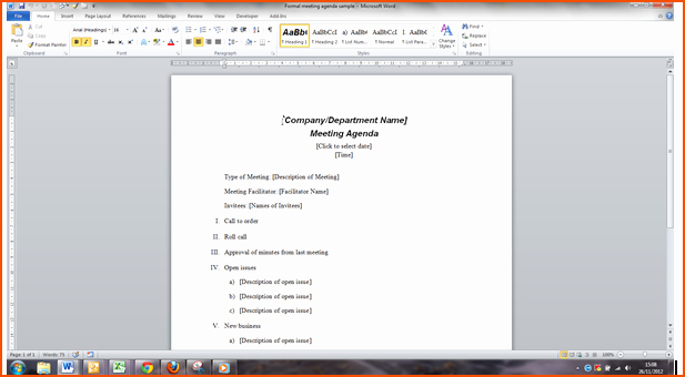 Ms Word Meeting Agenda Template Best Of 6 Microsoft Word Agenda Template Bookletemplate