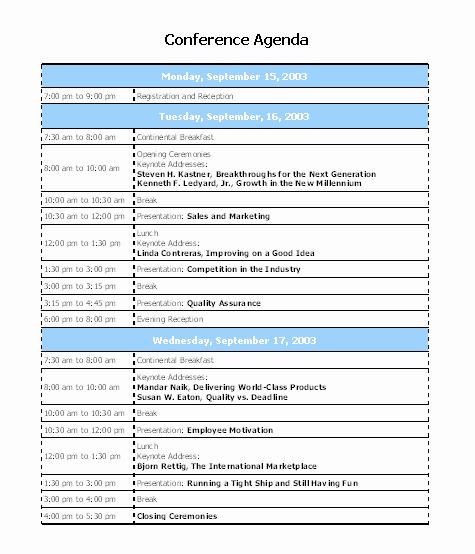 Ms Word Meeting Agenda Template Elegant 10 Best Of Conference Agenda Template Conference