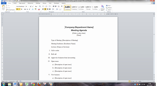 Ms Word Meeting Agenda Template Elegant Improve the Way You Create and Use Meeting Papers In Word