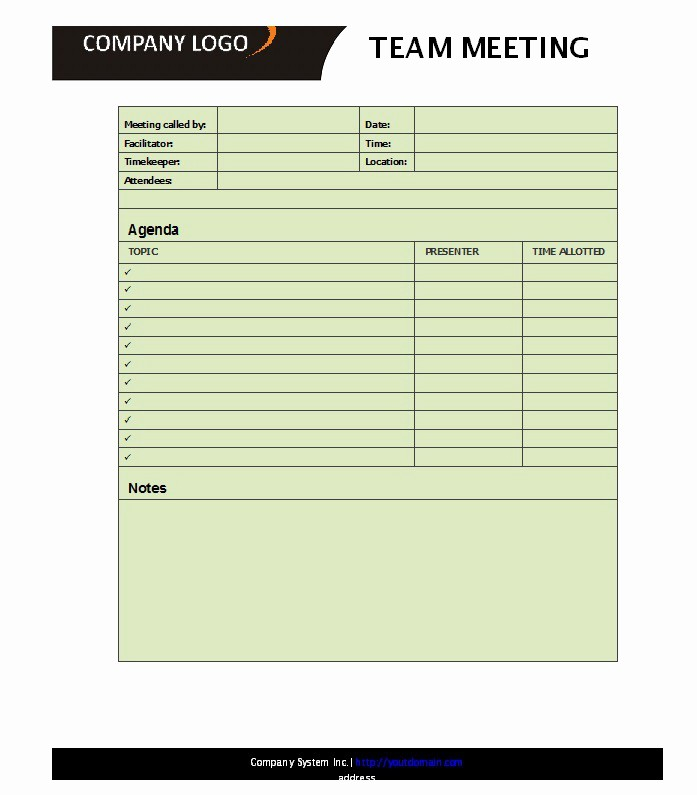 Ms Word Meeting Agenda Template Inspirational 51 Effective Meeting Agenda Templates Free Template