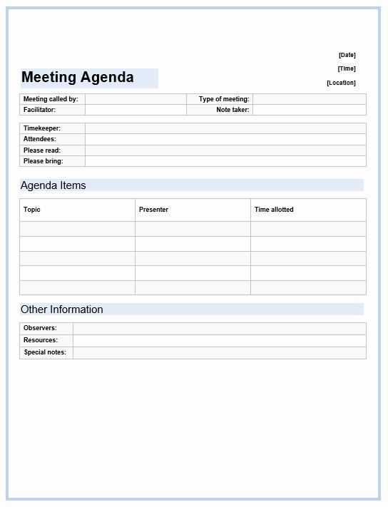 Ms Word Meeting Agenda Template New Fice Meeting Agenda Template Microsoft Word Templates