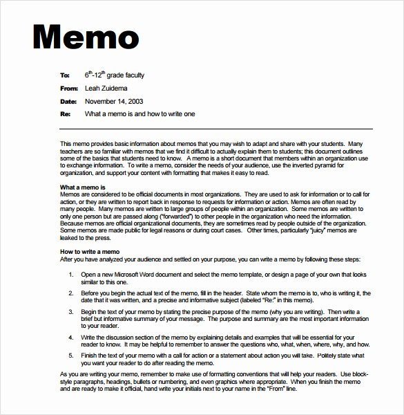 Ms Word Memo Templates Free Awesome 7 Memo Templates Excel Pdf formats
