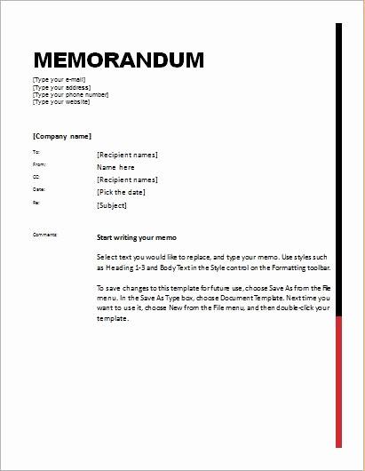 Ms Word Memo Templates Free Beautiful 24 Free Editable Memo Templates for Ms Word