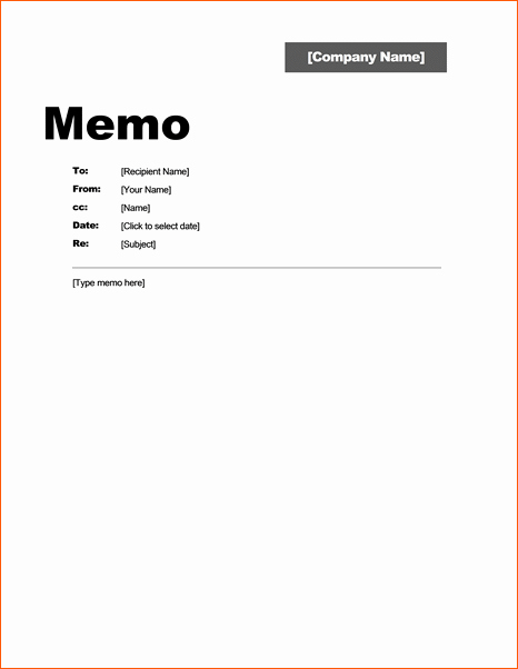 Ms Word Memo Templates Free Beautiful 7 Office Memo Template