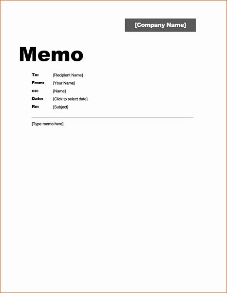 Ms Word Memo Templates Free Beautiful 7 Office Memo Template