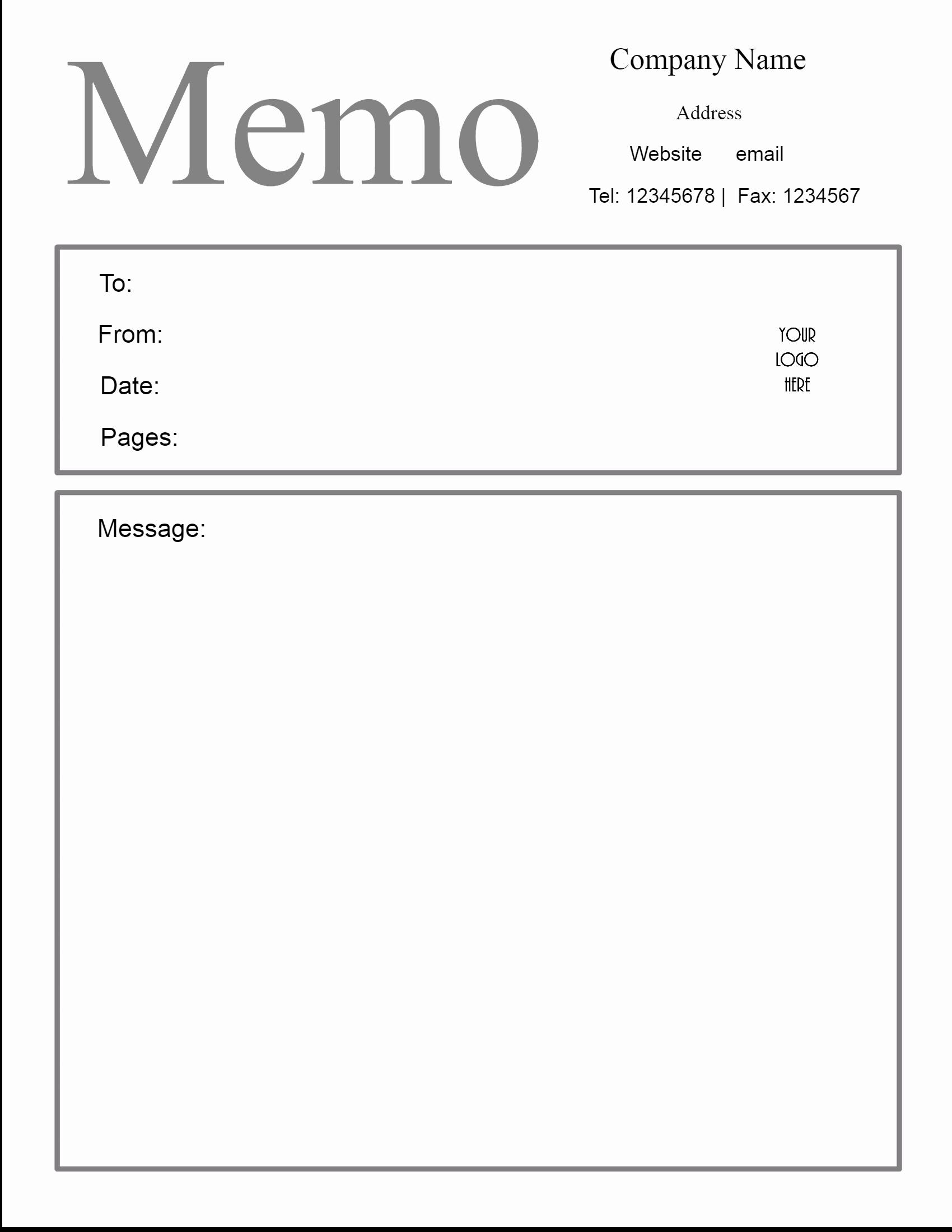 Ms Word Memo Templates Free Beautiful Free Microsoft Word Memo Template