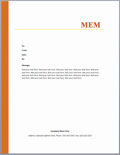 Ms Word Memo Templates Free Beautiful Mou Memo Template – Microsoft Word Templates