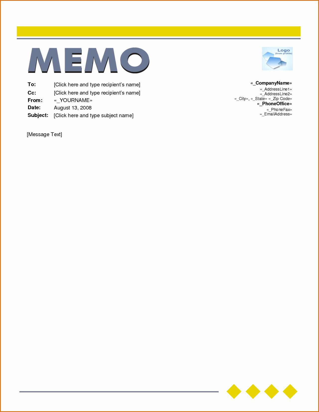 Ms Word Memo Templates Free Best Of 6 Microsoft Word Memo Template