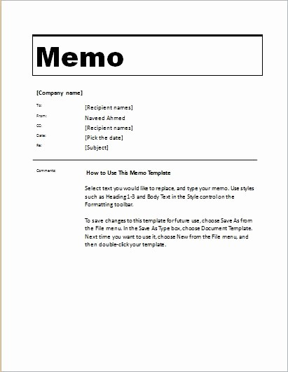 Ms Word Memo Templates Free Elegant 24 Free Editable Memo Templates for Ms Word