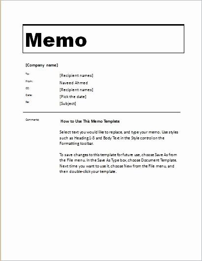 Ms Word Memo Templates Free Elegant 24 Free Editable Memo Templates for Ms Word