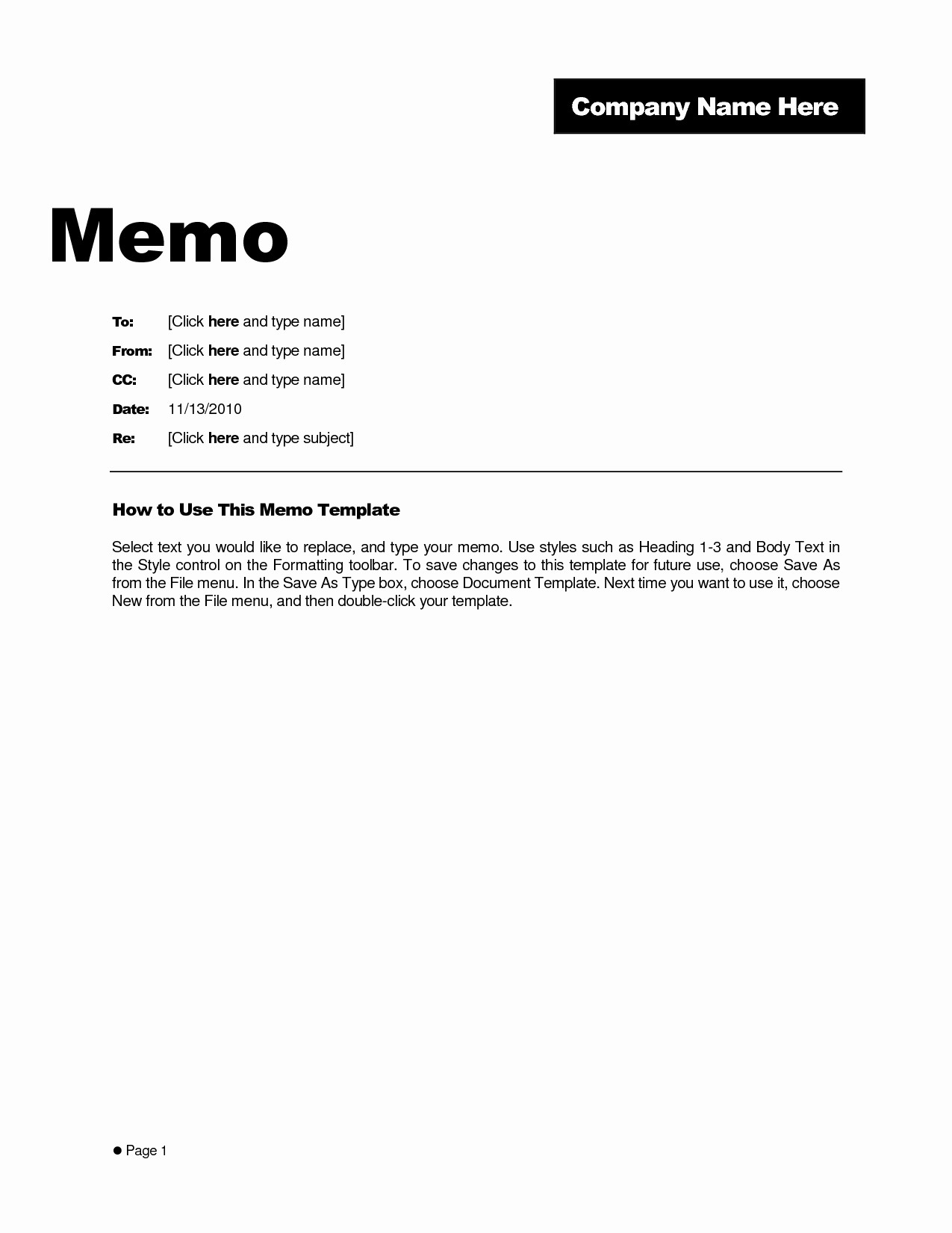 Ms Word Memo Templates Free Elegant Business Memo format Microsoft Word