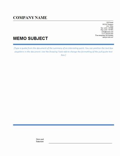 Ms Word Memo Templates Free Fresh Memo format [bonus 48 Memo Templates]