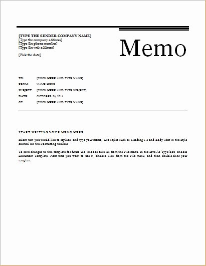 Ms Word Memo Templates Free Inspirational 24 Free Editable Memo Templates for Ms Word