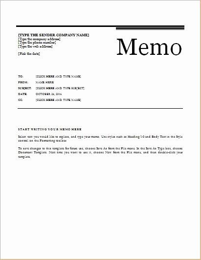 Ms Word Memo Templates Free Inspirational 24 Free Editable Memo Templates for Ms Word