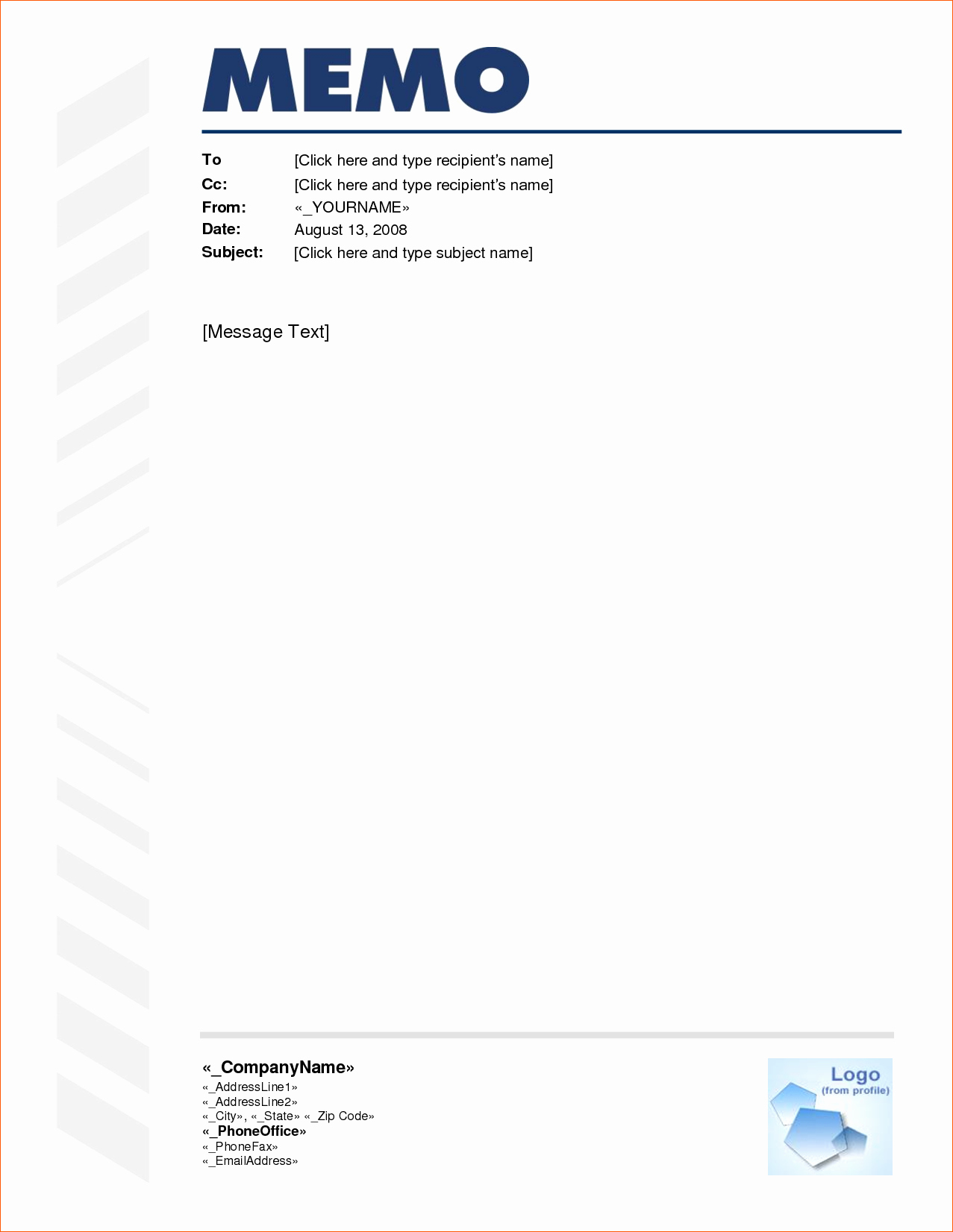 Ms Word Memo Templates Free Inspirational 9 Free Memo Template