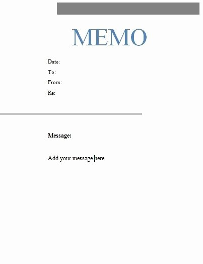 Ms Word Memo Templates Free Inspirational Free Microsoft Word Memo Template