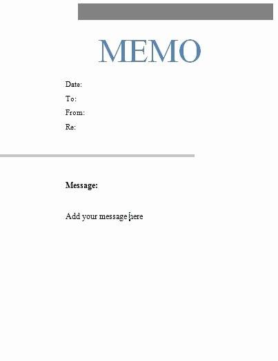 Ms Word Memo Templates Free Inspirational Free Microsoft Word Memo Template