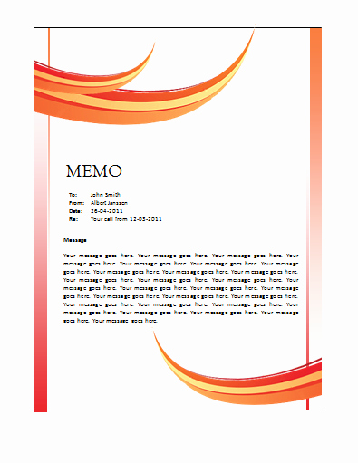 Ms Word Memo Templates Free Inspirational Memo Template – Microsoft Word Templates