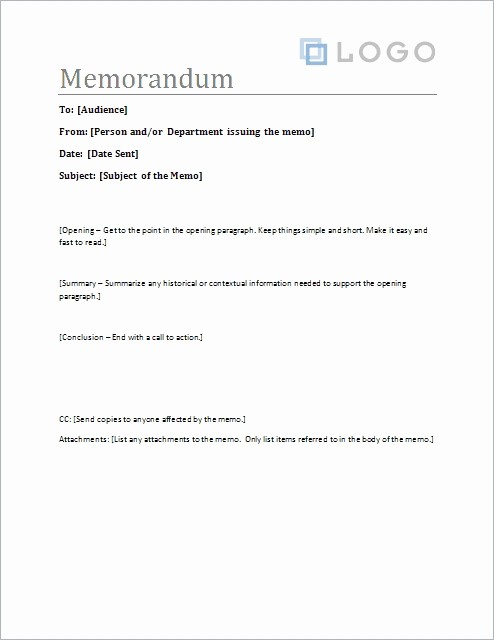 Ms Word Memo Templates Free Luxury Business Memo format Microsoft Word
