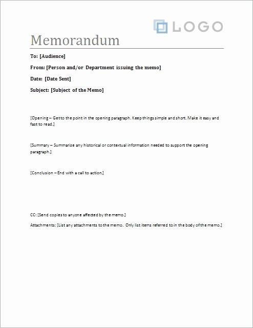 Ms Word Memo Templates Free Luxury Business Memo format Microsoft Word