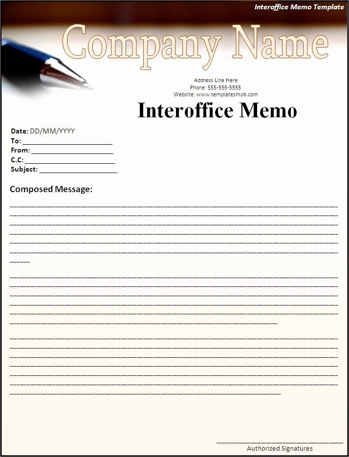 Ms Word Memo Templates Free Luxury Interoffice Memo Template Word Excel formats