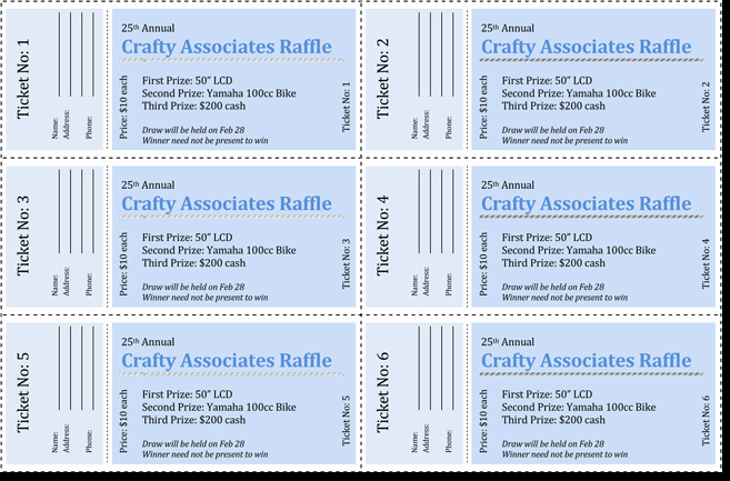 Ms Word Raffle Ticket Template Awesome 20 Free Raffle Ticket Templates with Automate Ticket